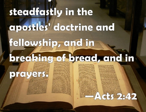 Study 6 – The Breaking of Bread – GOD'S ORDINANCE TO THE BODY OF CHRIST